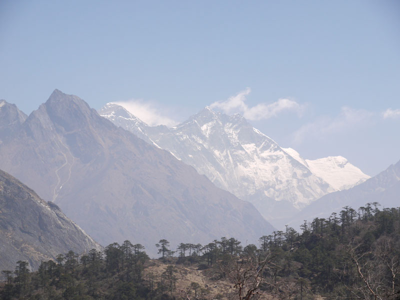 Our First View of Mount Everest