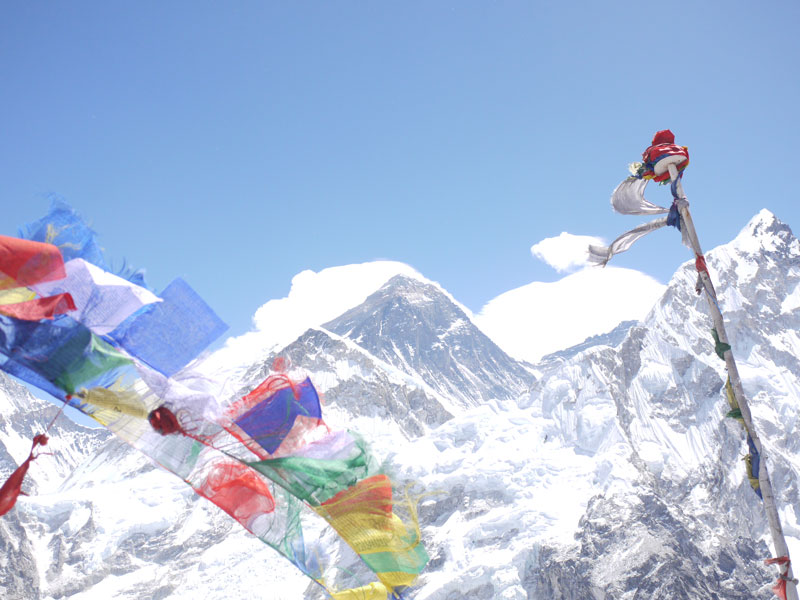 Mount Everest from the top of Kala Pattar, Nepal