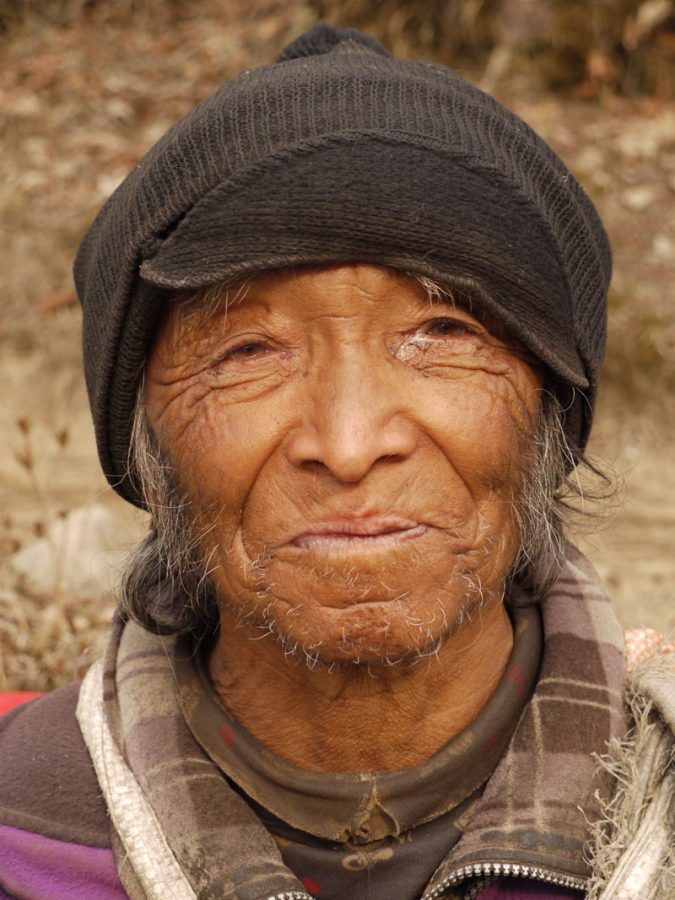 Friendly local Sherpa between Thame and Namche Bazaar