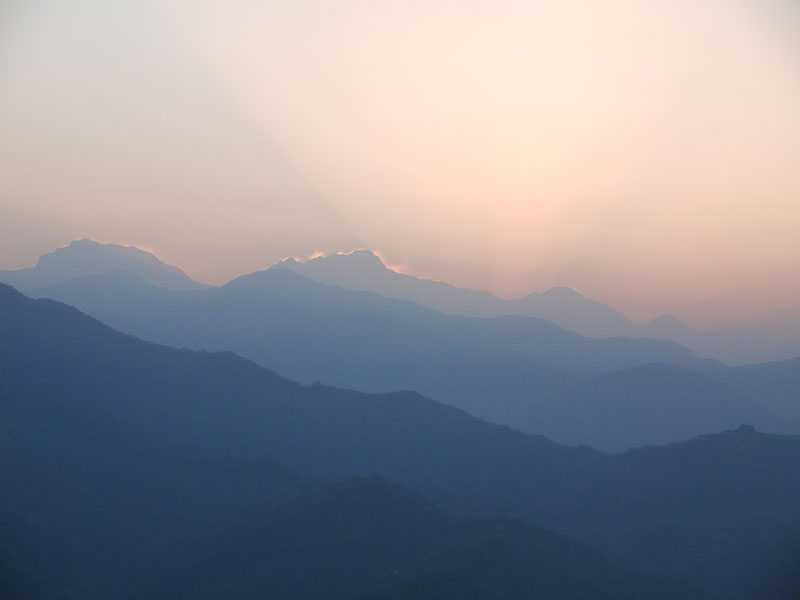 Sunrise at Sarangkot, Pokhara, Nepal