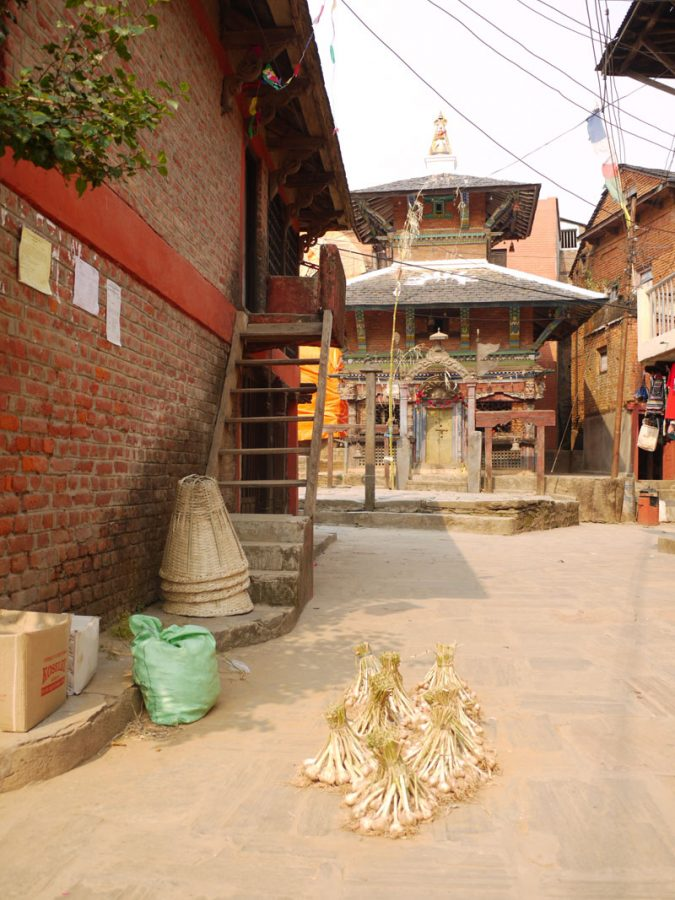 The red brick Newari homes and temples of Bandipur