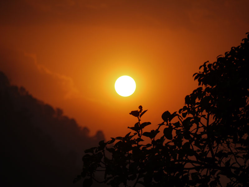 Awesome sunset at Bandipur, Nepal
