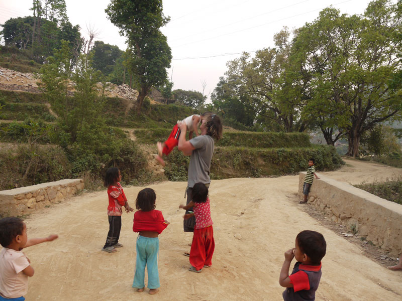Bandipur Children very excited to see foreigners! Nepal