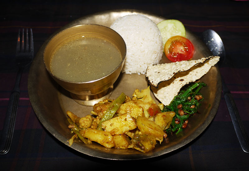 Dal Bhat from Bandipur, Nepal