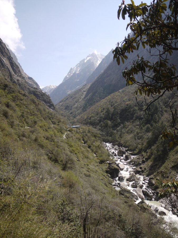 Beautiful views through the valley along the Annapurna Base Camp trail