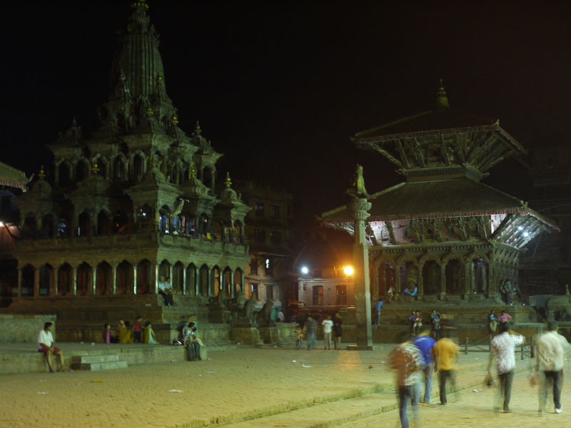 Durbar Square Patan, by night