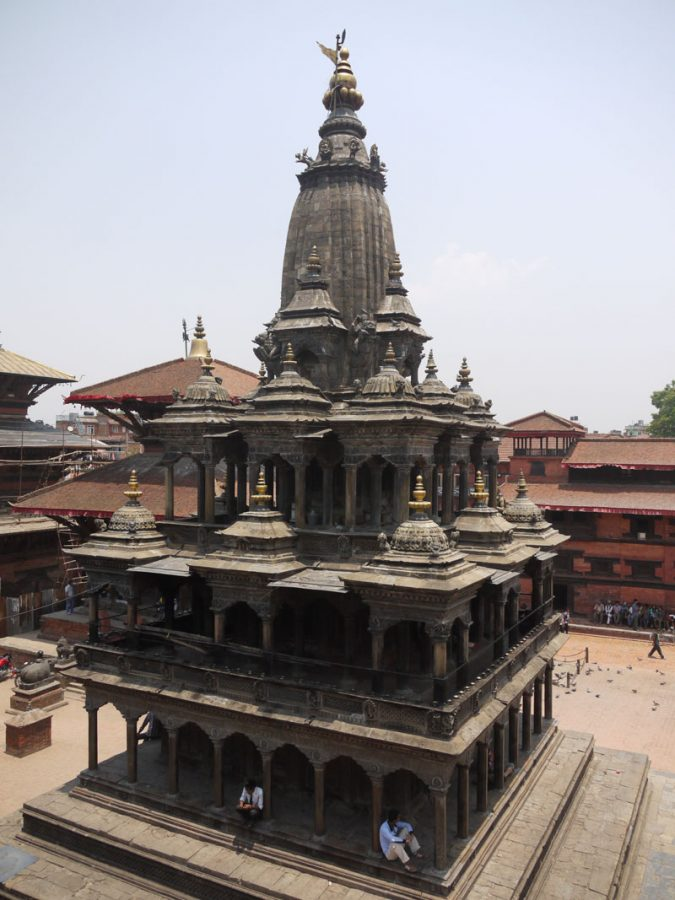 The stone Krishna Mandir temple in Durbar Square Patan
