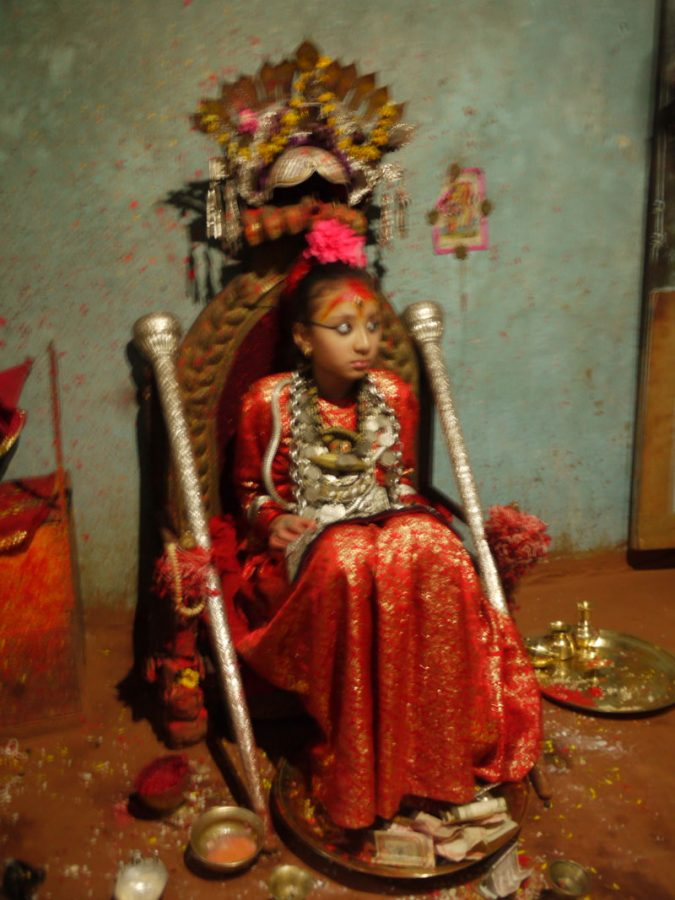 Kumari Devi; the living Goddess in Patan, Nepal