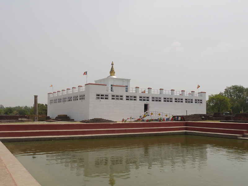 Maya Devi temple which marks the birthplace of the Buddha in Lumbini, Nepal