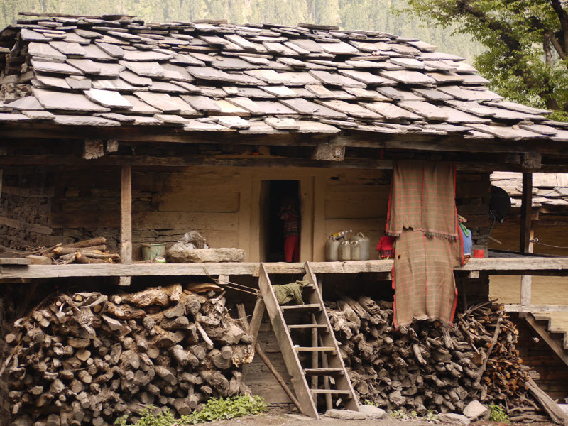 Typical family home, Malana