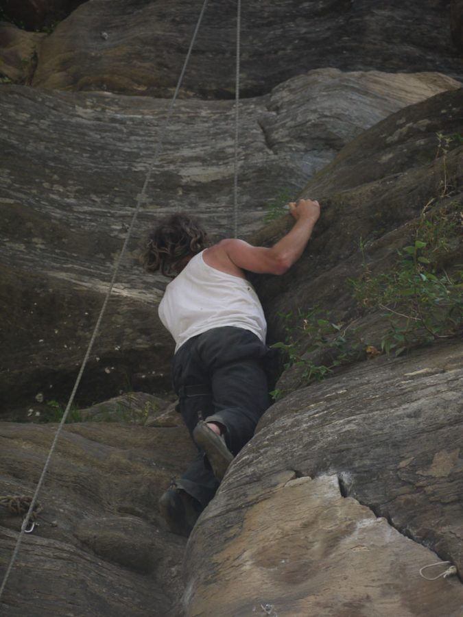 Brian Rock Climbing in Manali