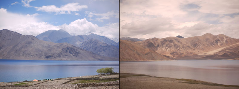 The different moods of Pangong Tso