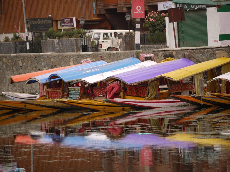 Colourful shikaras, Srinagar