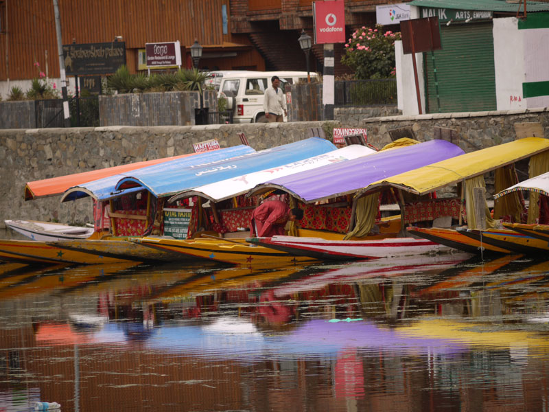 Colourful shikaras, Srinagar