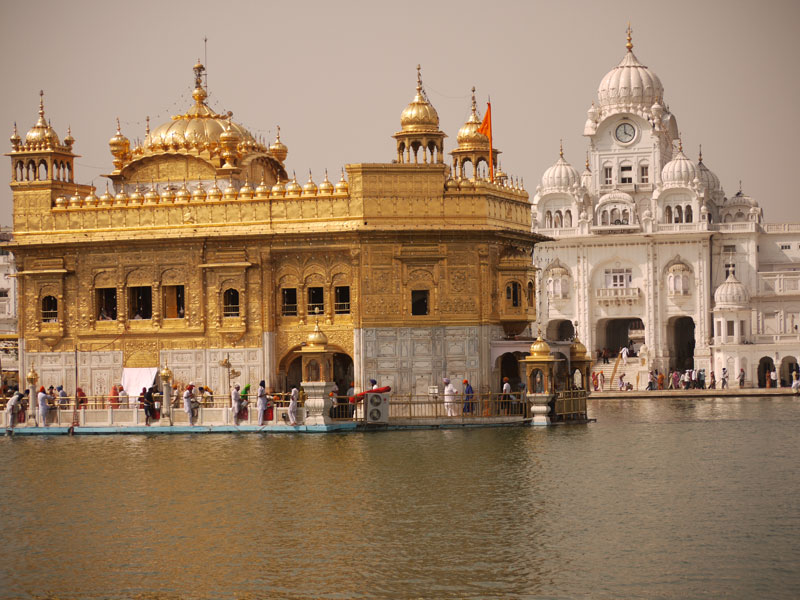 Golden Temple and main gate, Amritsar, India
