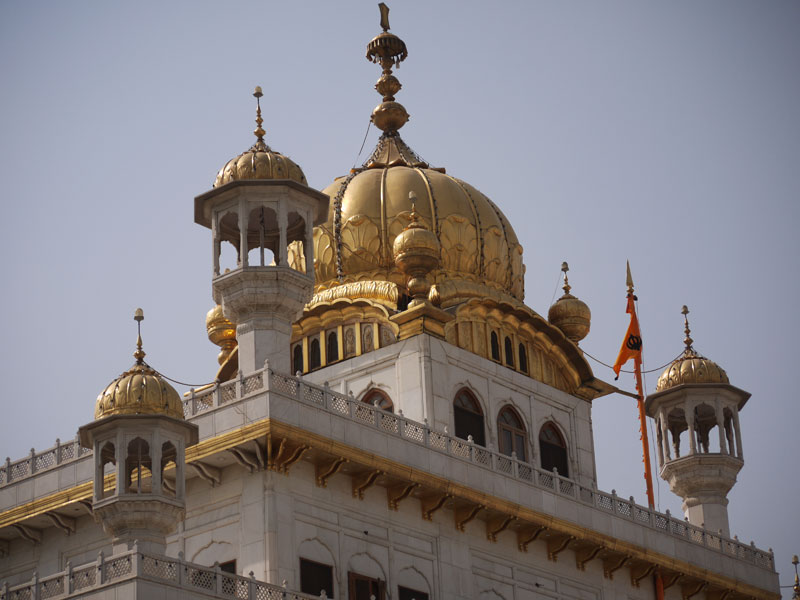 Gold dome on Sikh Parliament building, Amritsar, India