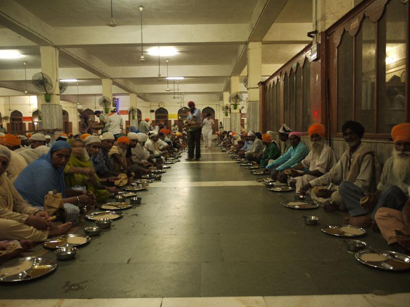 Langar: communal eating hall