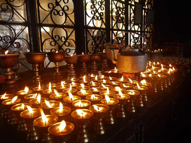 Butter Lamps, McLeod Ganj