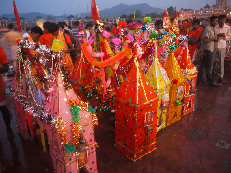 Carried all the way from who knows where to the Ganges River, Haridwar