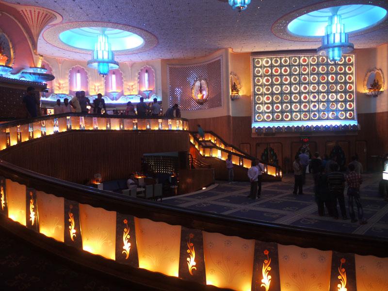 The lobby of the Raj Mandir cinema, Jaipur