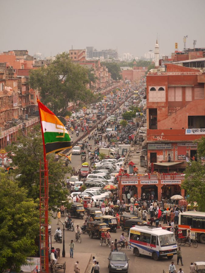 The busy streets of Jaipur's Old City