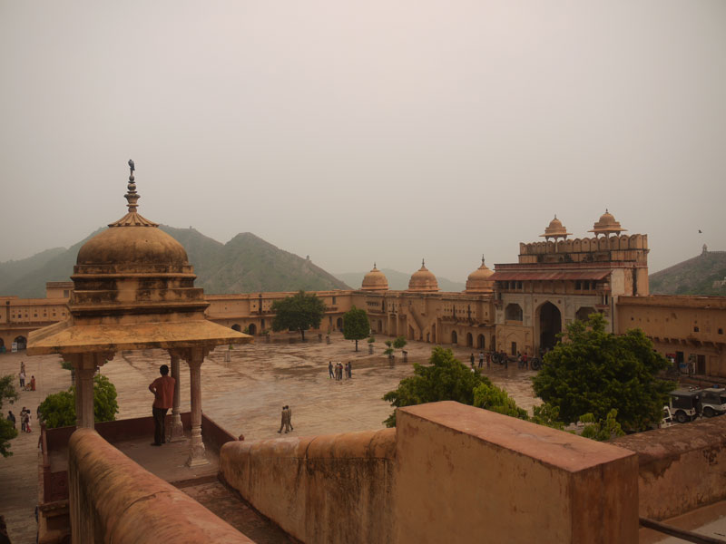 Looking out across Amber Fort, Jaipur