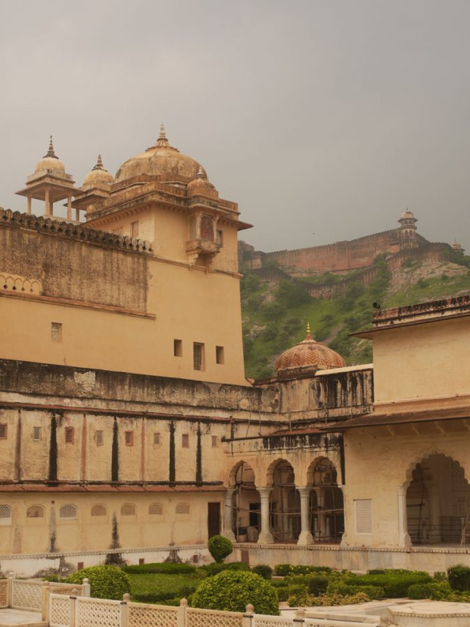 A courtyard inside Amber Fort, Jaipur
