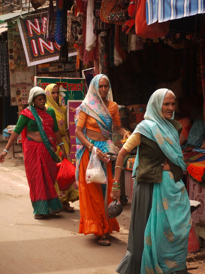 Colourful Saris in the Streets of Pushkar
