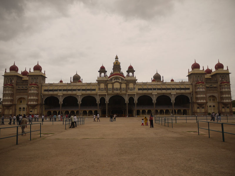 Mysore Palace and an angry sky, Mysore
