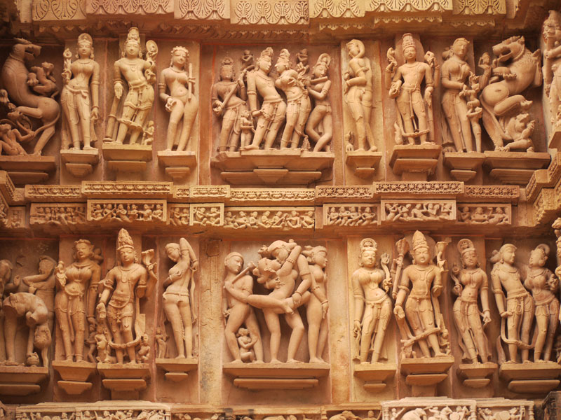 Carvings at Khajuraho