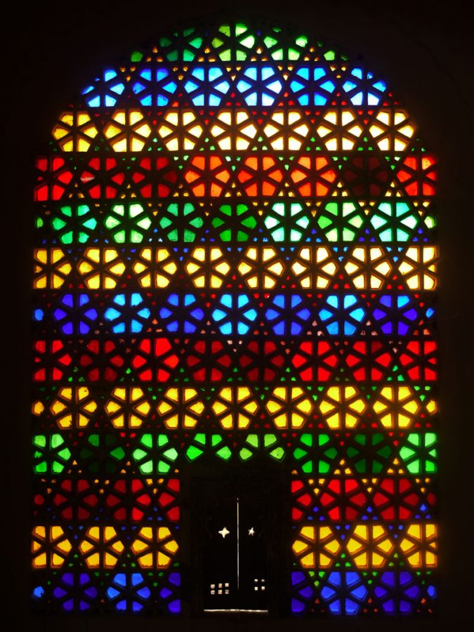 Stained Glass Window inside the Bagore-ki-Haveli, Udaipur