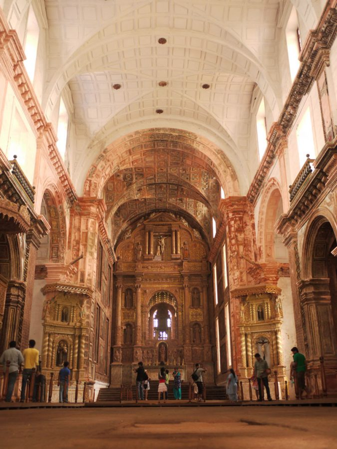 Inside Se Cathedral, Panjim, Goa