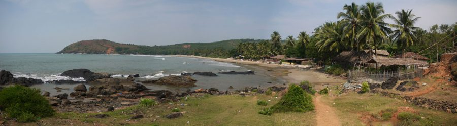 Panorama of Kudle Beach from the southern end