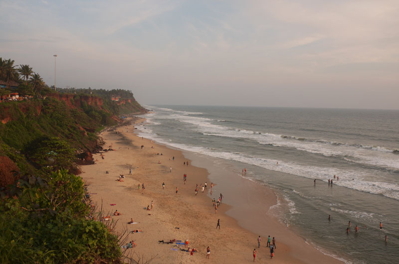 Cliff Top Varkala in Southern India