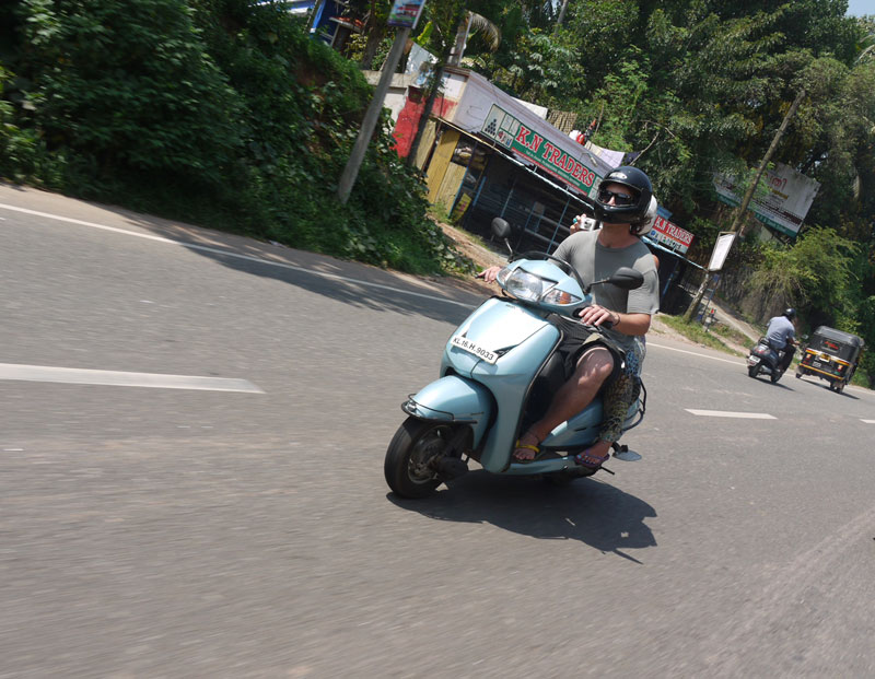 VIDEO Driving A Scooter On India's Crazy Roads