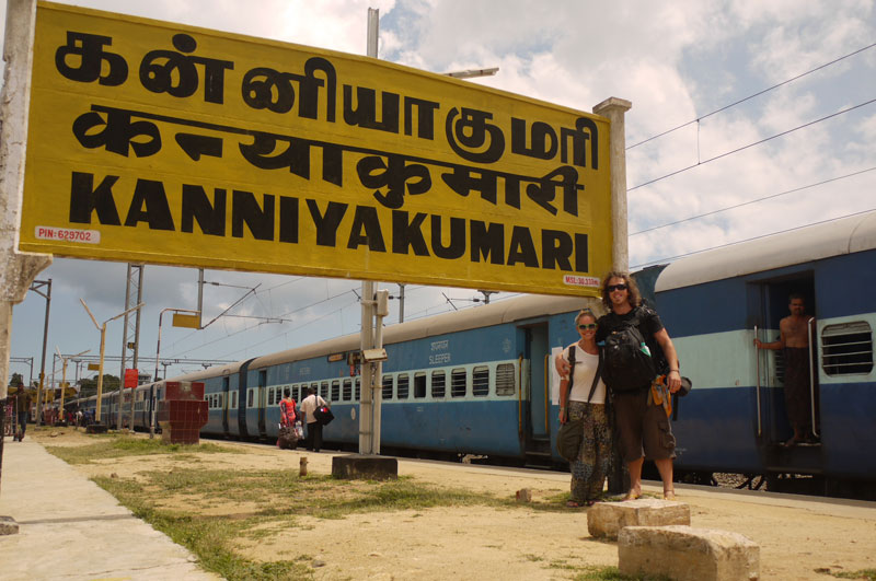 At Kanniyakumari Train Station