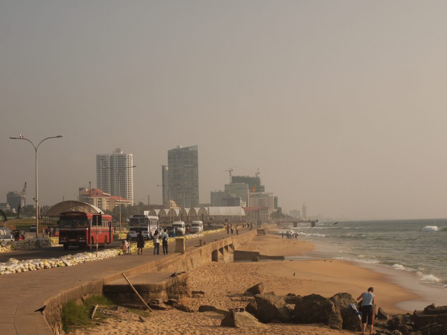 Stretch of coast running from the World Trade Centre to Galle Face Green, Colombo, Sri Lanka