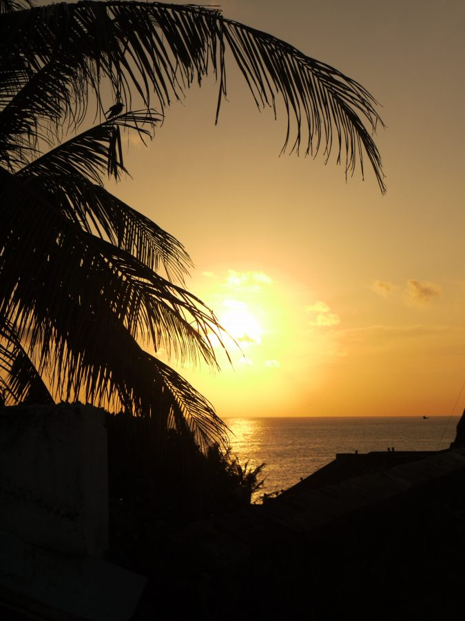 Stunning sunset from the Galle Fort walls — in Galle, Sri Lanka.