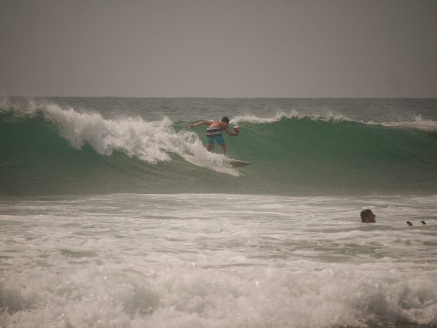 Surfing at Hikkaduwa, Sri Lanka