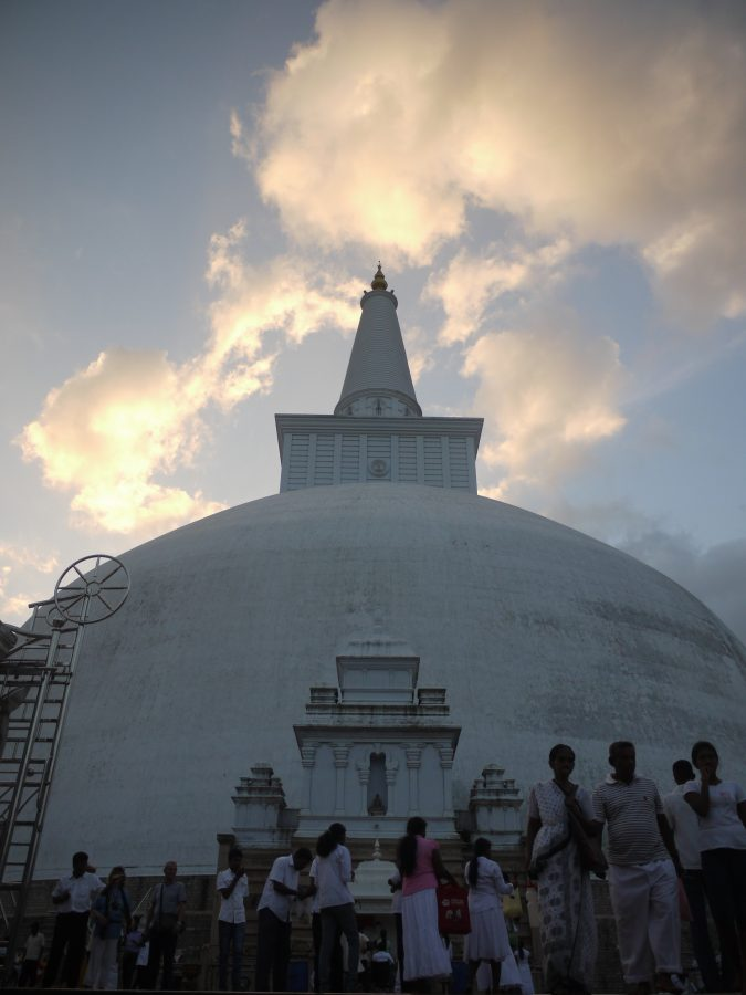 The fifty five metre tall Ruvanvelisaya Dagoba, Anuradhapura, Sri Lanka.