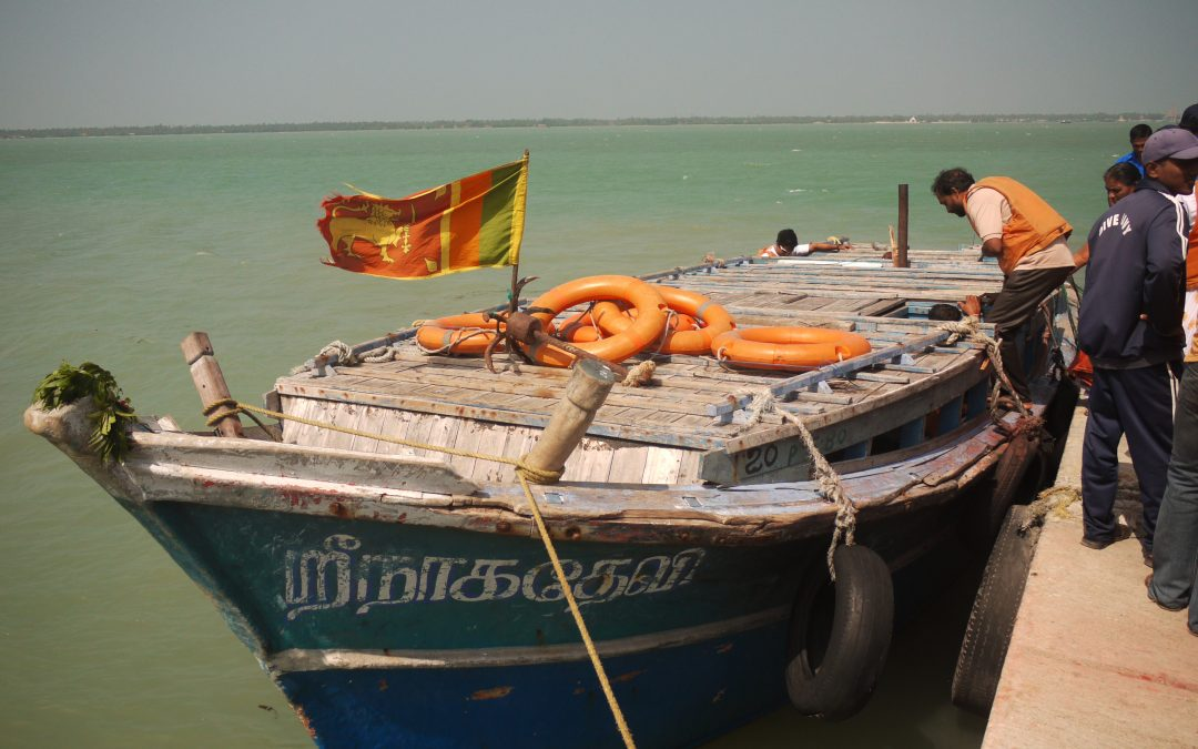 VIDEO Ferry From Jaffna to Remote Nainativu Island, Northern Sri Lanka