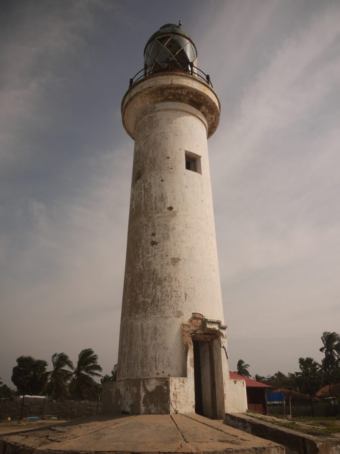 Talaimannar Lighthouse, built by the British in 1915, now left idle.