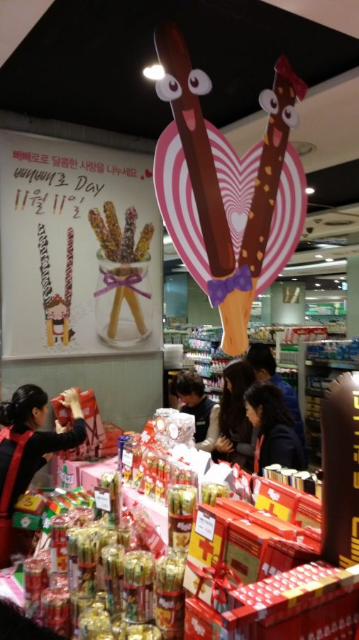 Display for Pepero Day, South Korea