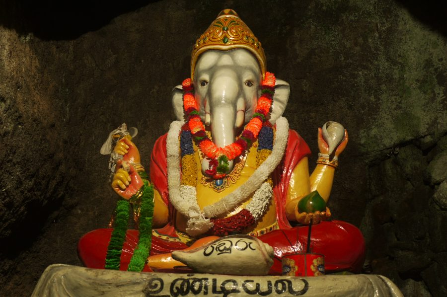 Ganesha, 'the destroyer of obstacles', at the beginning of the trail