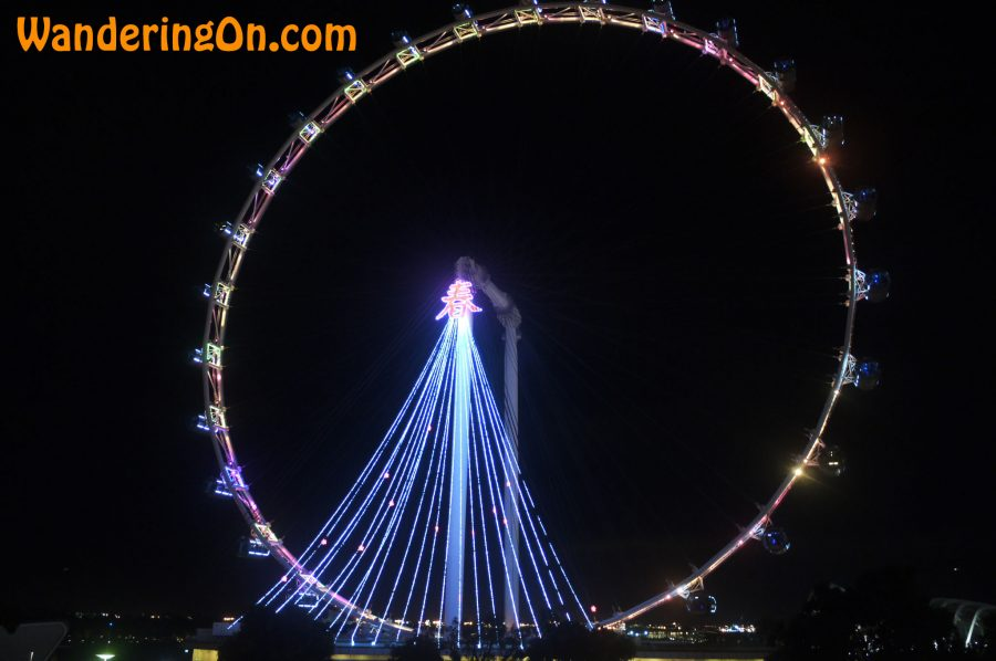Singapore Flyer; the world's tallest Ferris wheel.