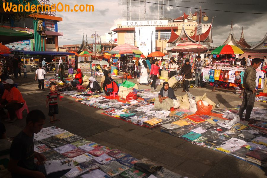 The bustling markets of Bukittinggi, Sumatra, Indonesia