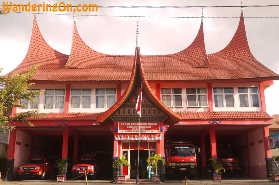 Local Fire Station built in the Minangkabau style, Bukittinggi, Sumatra, Indonesia