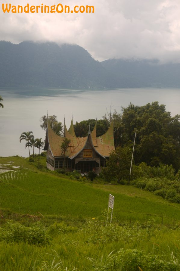 Traditional Minangkabau architecture in the hills surrounding Lake Mininjau, West Sumatra, Indonesia
