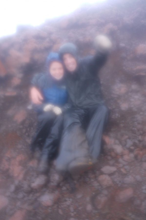 Brian and Noelle on the summit of Gunung Kerinci Sumatra after a hell of a climb