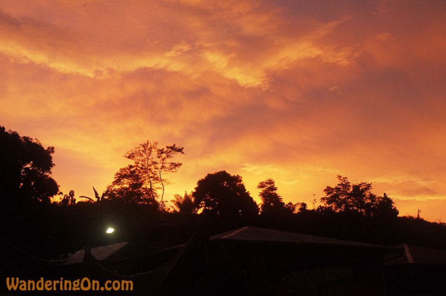 Brilliant sunset sky, Lake Toba, Sumatra, Indonesia